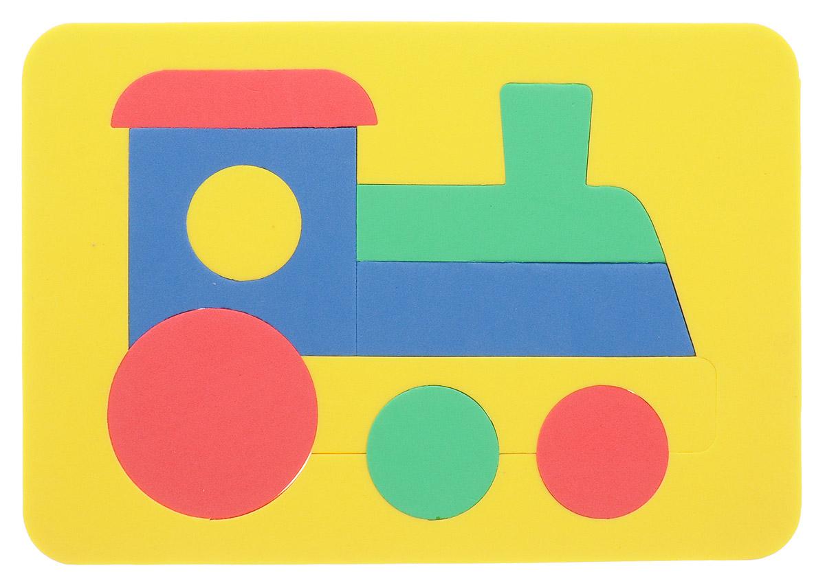 Бомик Пазл для малышей Паровоз цвет основы желтый бомик пазл для малышей собака