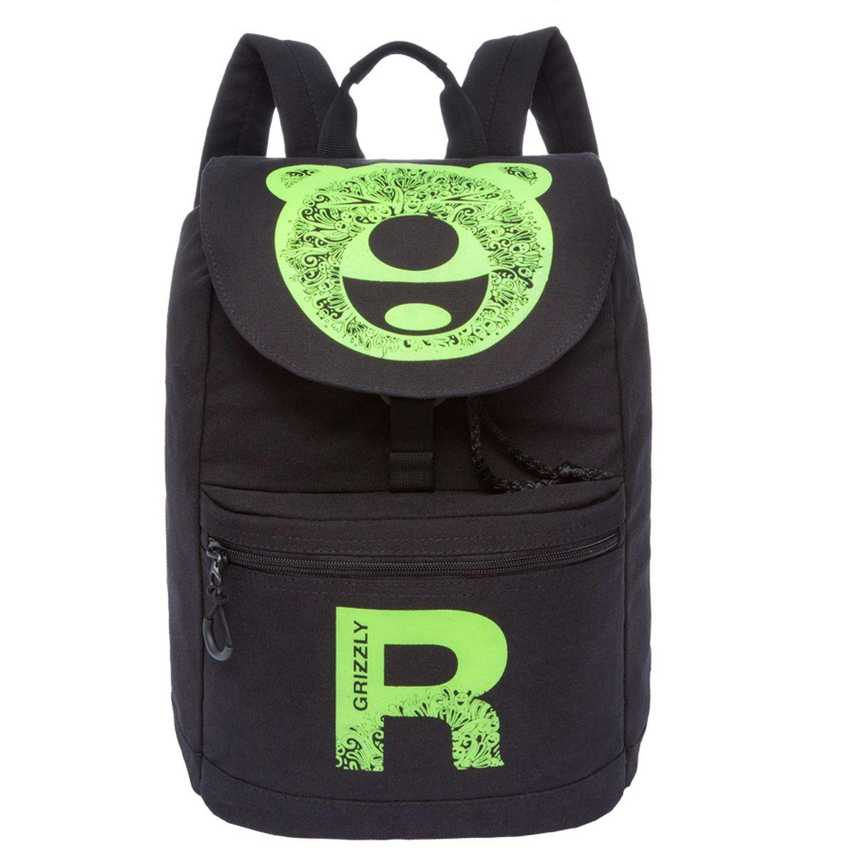 Рюкзак молодежный Grizzly, цвет: черный-желтый. 18 л. RD-744-1/2 рюкзаки grizzly рюкзак