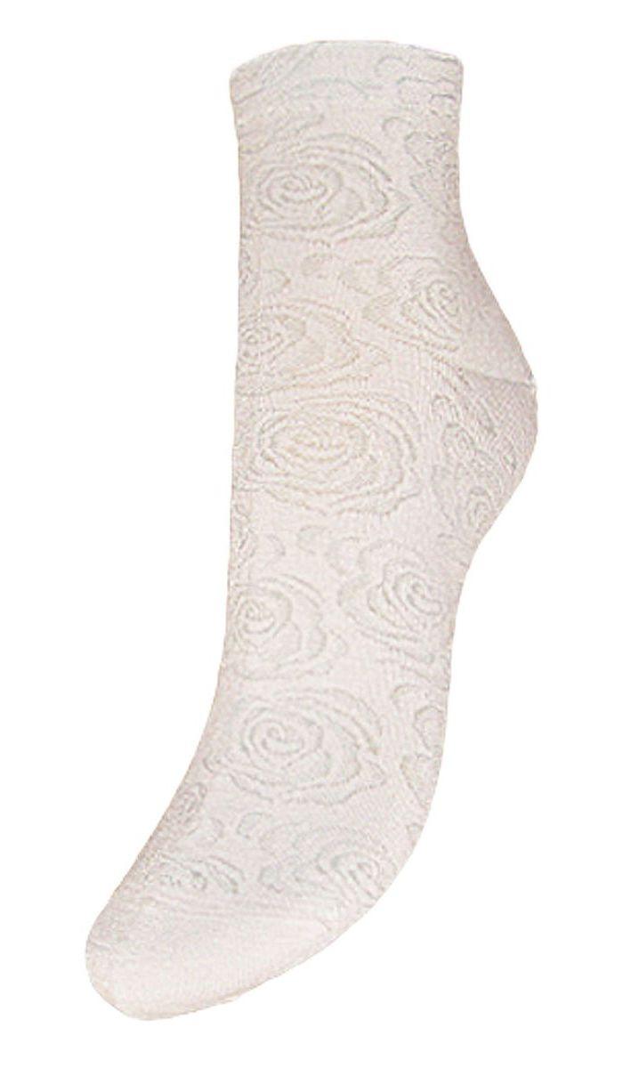 Носки женские Гранд, цвет: белый, 2 пары. SCL37. Размер 23/25SCL37Женские носки Гранд выполнены из высококачественного хлопка, предназначены для повседневной носки. Укороченные носки оформлены рисунком розочки. Носки долгое время сохраняют форму и цвет, а так же обладают антибактериальными и терморегулирующими свойствами.