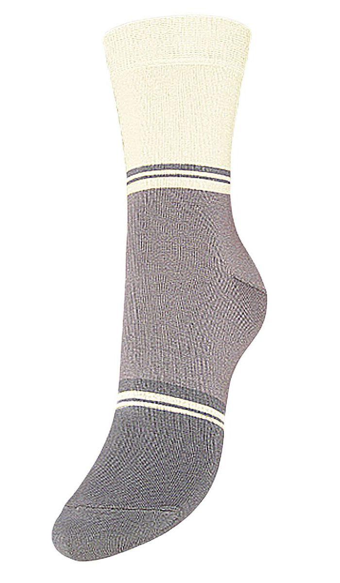 Купить Носки женские Гранд, цвет: серый, белый, 2 пары. SCL40. Размер 23/25
