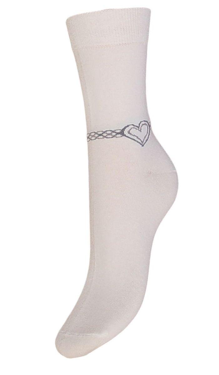 Носки женские Гранд, цвет: белый, 2 пары. SCL53. Размер 23/25SCL53Женские носки Грандвыполнены из высококачественного хлопка, предназначены для повседневной носки. Носки с бесшовной технологией зашивки мыска (кеттельный шов), оформленные на паголенке текстурным рисунком сердечко на цепочке, изготовлены по европейским стандартам из лучшей гребенной пряжи. Они хорошо держат форму и обладают повышенной воздухопроницаемостью, имеют безупречный внешний вид, усиленные пятку и мысок для повышенной износостойкости, после стирки не меняют цвет. Благодаря свойствам эластана, не теряют первоначальный вид. Носки долгое время сохраняют форму и цвет, а так же обладают антибактериальными и терморегулирующими свойствами.