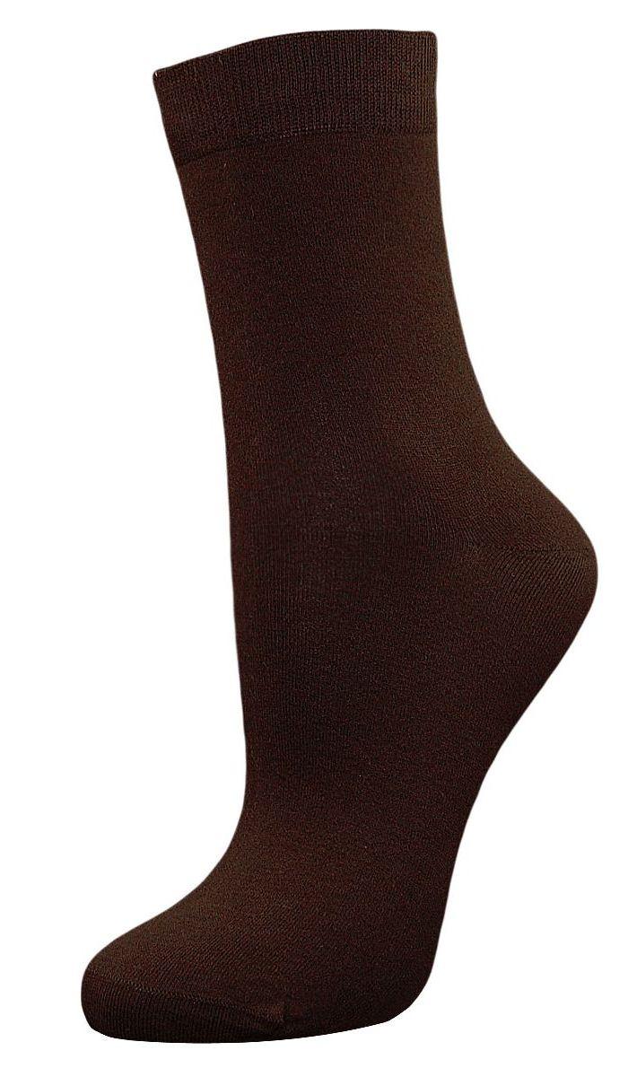 Носки женские Гранд, цвет: темно-коричневый, 2 пары. SCL27. Размер 23/25SCL27Женские однотонные носки Гранд выполнены из хлопка. Носки с бесшовной технологией зашивки мыска (кеттельный шов) изготовлены по европейским стандартам из самой лучшей гребенной пряжи, они безупречный внешний вид, усиленные пятку и мысок для повышенной износостойкости, после стирки не меняют цвет. Функция отвода влаги позволяет сохранить ноги сухими. Благодаря свойствам эластана, не теряют первоначальный вид. Используя европейские стандарты на современных вязальных автоматах, компания Гранд предоставляет покупателю высокое качество изготавливаемой продукции.