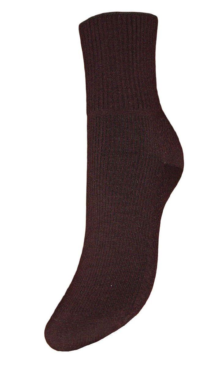 Носки женские Гранд, цвет: темно-коричневый, 2 пары. SCL67/1. Размер 23/25SCL67/1Женские носки Гранд с медицинской резинкой изготовлены по специальной технологии для людей, страдающих заболеваниями ног, а также для тех, кто думает о своем здоровье и хочет предотвратить эти заболевания. Данная модель медицинских носков мягкая, удобная, эластичная и прочная. Носки предназначены для оздоровления ног и профилактики венозной недостаточности, а также для снятия синдрома тяжести в ногах. Носки с бесшовной технологией зашивки мыска (кеттельный шов) изготовлены по европейским стандартам из лучшей гребенной пряжи, хорошо держат форму и обладают повышенной воздухопроницаемостью, имеют безупречный внешний вид, усиленные пятку и мысок для повышенной износостойкости, после стирки не меняют цвет. Компания Гранд использует только натуральные волокна для изготовления лечебных носков по всем требованиям медицинских стандартов.