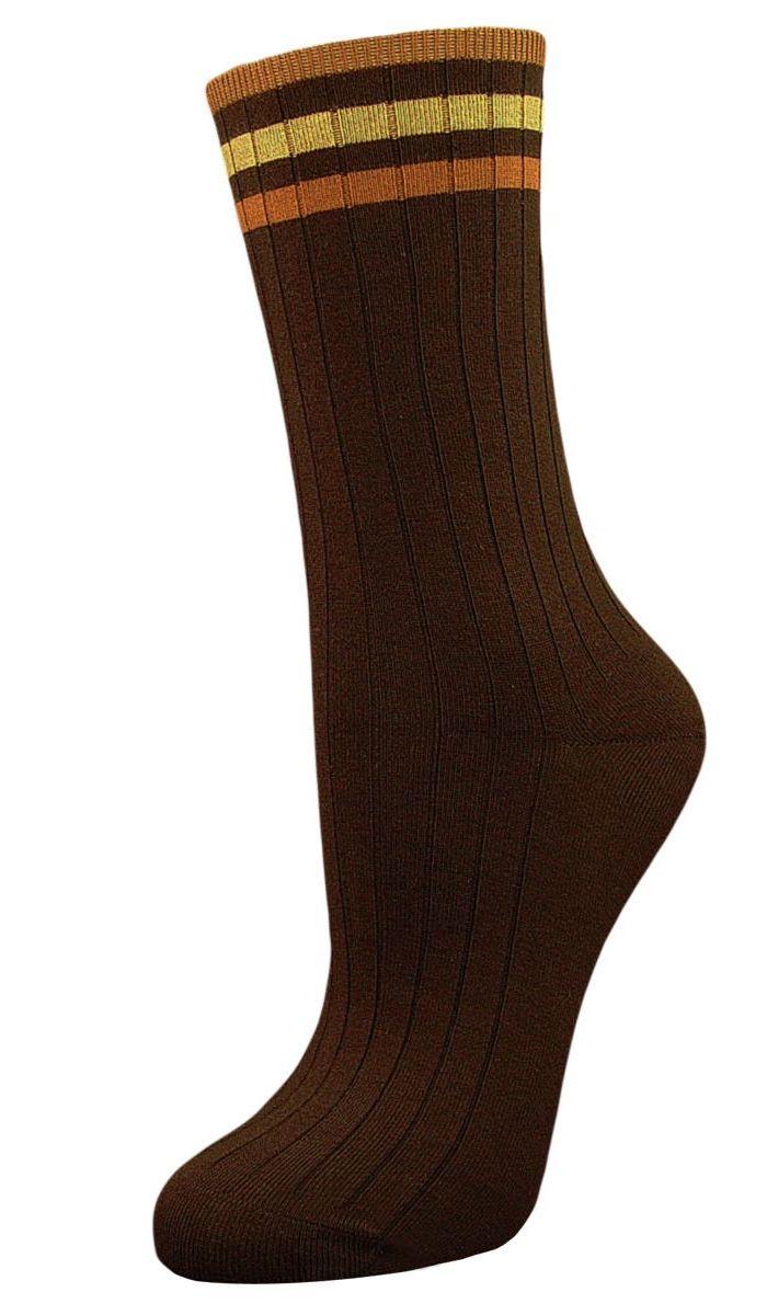 Носки женские Гранд, цвет: коричневый, 2 пары. SCL73. Размер 23/25  - купить со скидкой