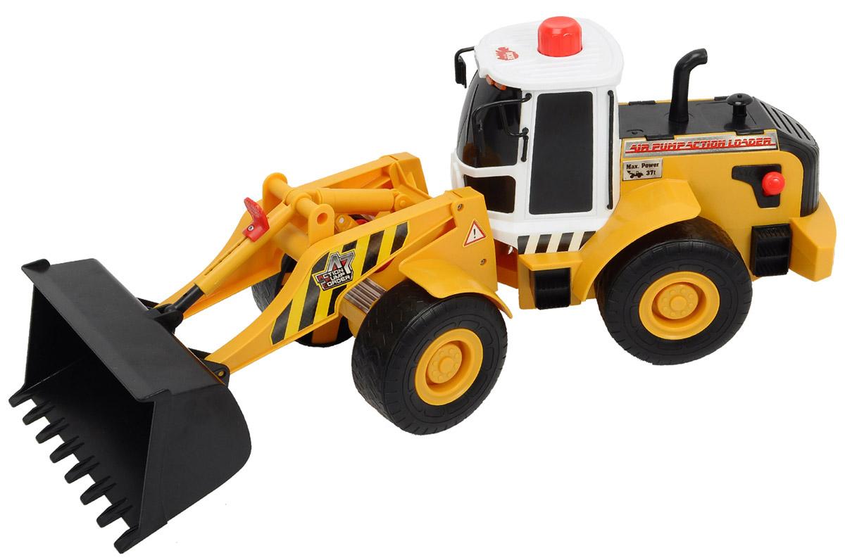 машинки dickie грузовик с подъемным механизмом airpump 29см Dickie Toys Погрузчик AirPump