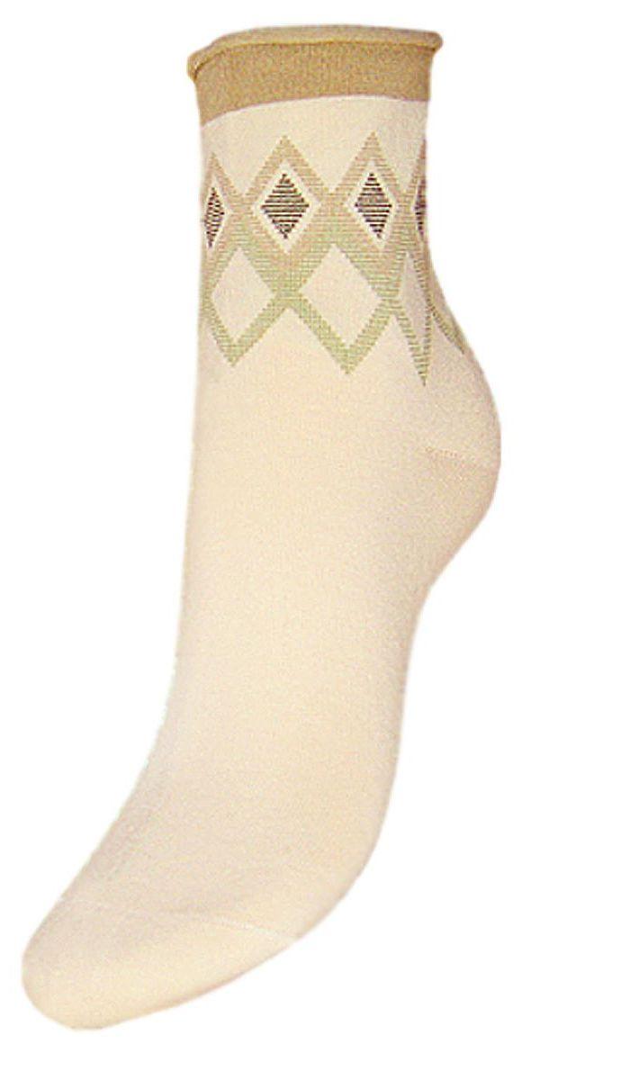Носки женские Гранд, цвет: кремовый, 2 пары. SCL65. Размер 23/25 носки женские гранд цвет коричневый 2 пары scl73 размер 23 25