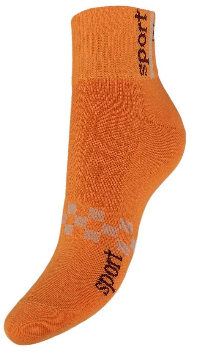 Носки женские Гранд, цвет: оранжевый, 2 пары. SCL55. Размер 23/25SCL55Женские укороченные носки Гранд выполнены из высококачественного хлопка. Носки, оформленные на паголенке надписью sport, изготовлены по европейским стандартам из самой лучшей гребенной пряжи, имеют усиленные пятку и мысок для повышенной износостойкости. Функция отвода влаги позволяет сохранить ноги сухими. Благодаря свойствам эластана, не теряют первоначальный вид. Носки долгое время сохраняют форму и цвет, а так же обладают антибактериальными и терморегулирующими свойствами.