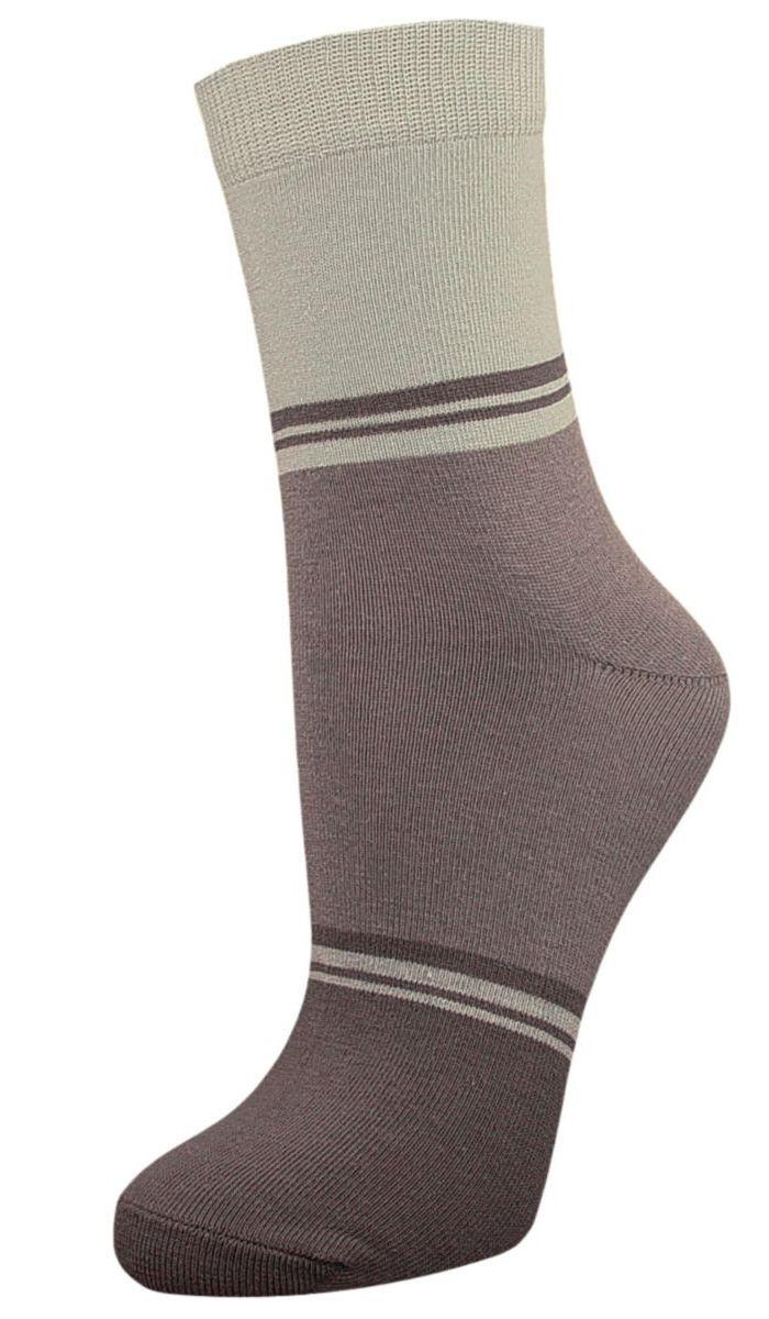 Купить Носки женские Гранд, цвет: серый, серо-зеленый, 2 пары. SCL40. Размер 23/25