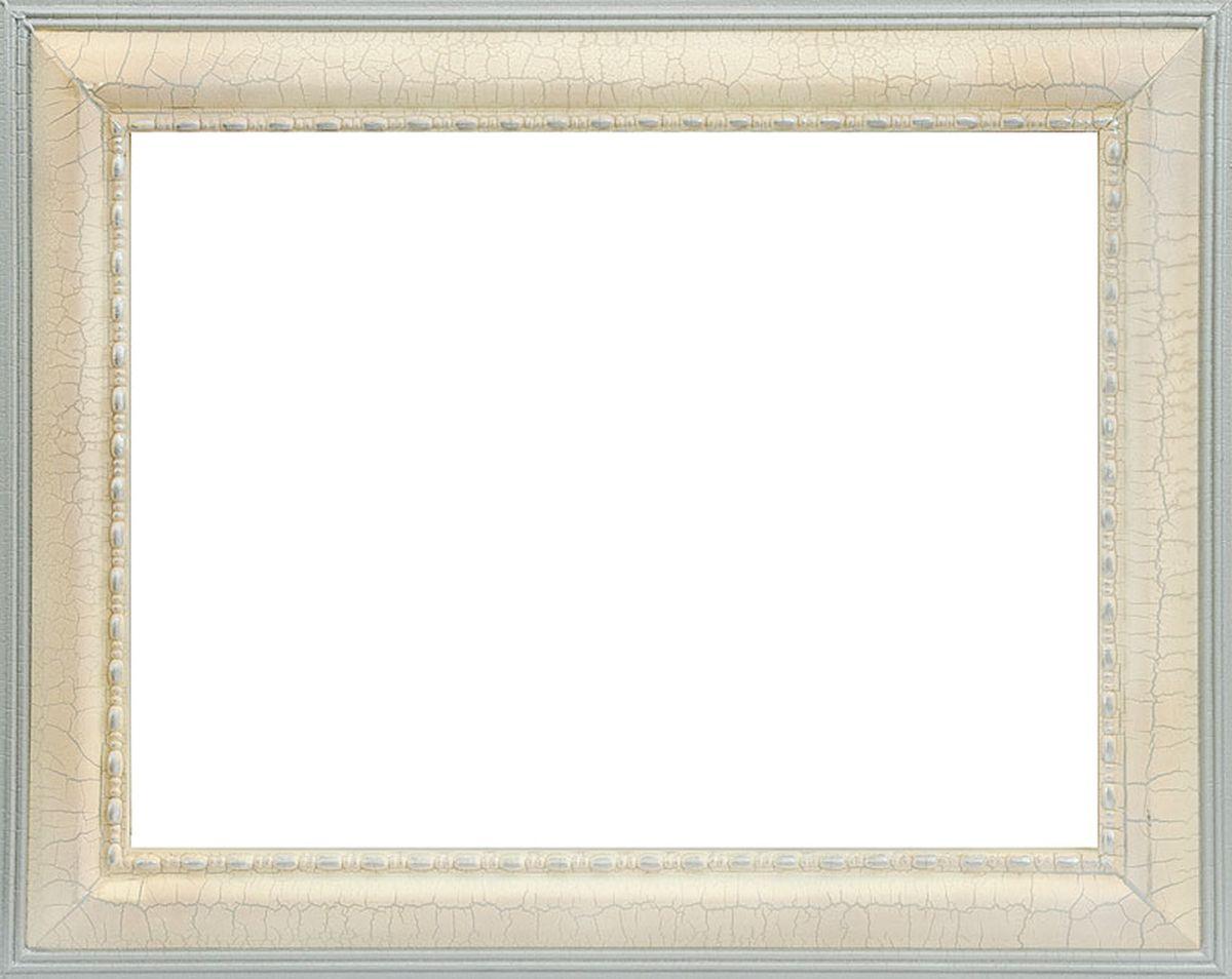 Рама багетная Белоснежка Betty, цвет: бежевый, серебряный, 40 х 50 см рама багетная белоснежка regina цвет черный серебряный 40 х 50 см