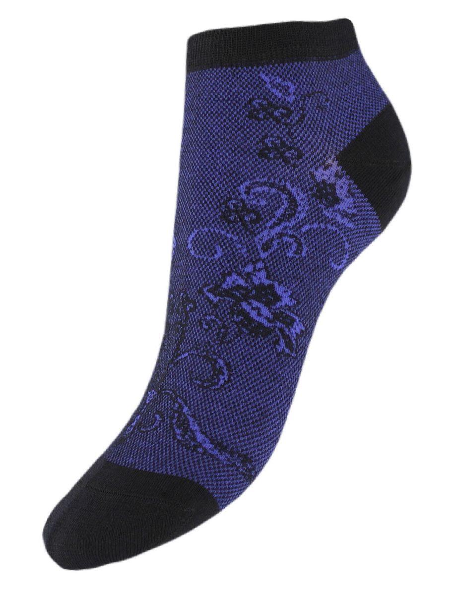 Носки женские Гранд, цвет: синий, 2 пары. SCL85. Размер 23/25SCL85Женские укороченные носкиГранд выполнены из высококачественного хлопка. Носки с бесшовной технологией зашивки мыска (кеттельный шов) хорошо держат форму и обладают повышенной воздухопроницаемостью, после стирки не меняют цвет, имеют усиленные пятку и мысок для повышенной износостойкости. Благодаря свойствам эластана, не теряют первоначальный вид. Носки изготовлены из лучшей гребенной пряжи. Носки произведены по европейским стандартам на современных итальянских вязальных автоматах Busi Giovanni.