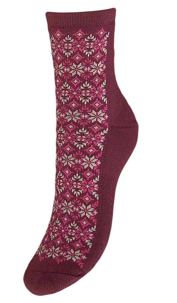 Купить Носки женские Гранд, цвет: бордовый, 2 пары. SC71M. Размер 23