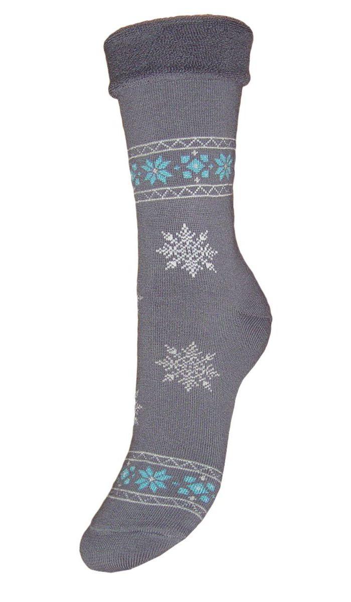 Носки женские махровые Гранд, цвет: серый, 2 пары. SC29M. Размер 23SC29MМахровые женские носки Гранд изготовлены из высококачественного хлопка с добавлением полиамидных и эластановых волокон, они обладают антибактериальными и теплоизолирующими свойствами, хорошо впитывают влагу, не садятся и не деформируются. Изделие оформлено интересным принтом в виде узоров и снежинок. Мягкая резинка с компрессионным эффектом идеально облегает ногу. Мысок и пятка усилены. В комплект входят две пары носков.