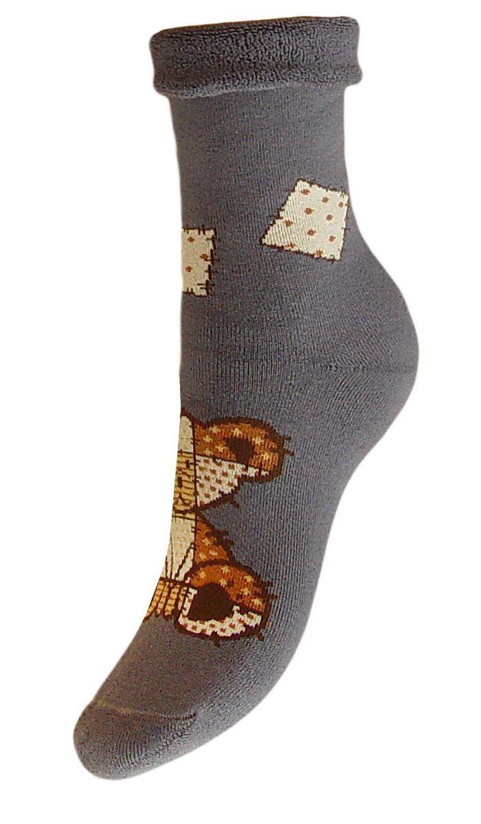 Купить Носки женские махровые Гранд, цвет: серый, 2 пары. SCL79M. Размер 23/25