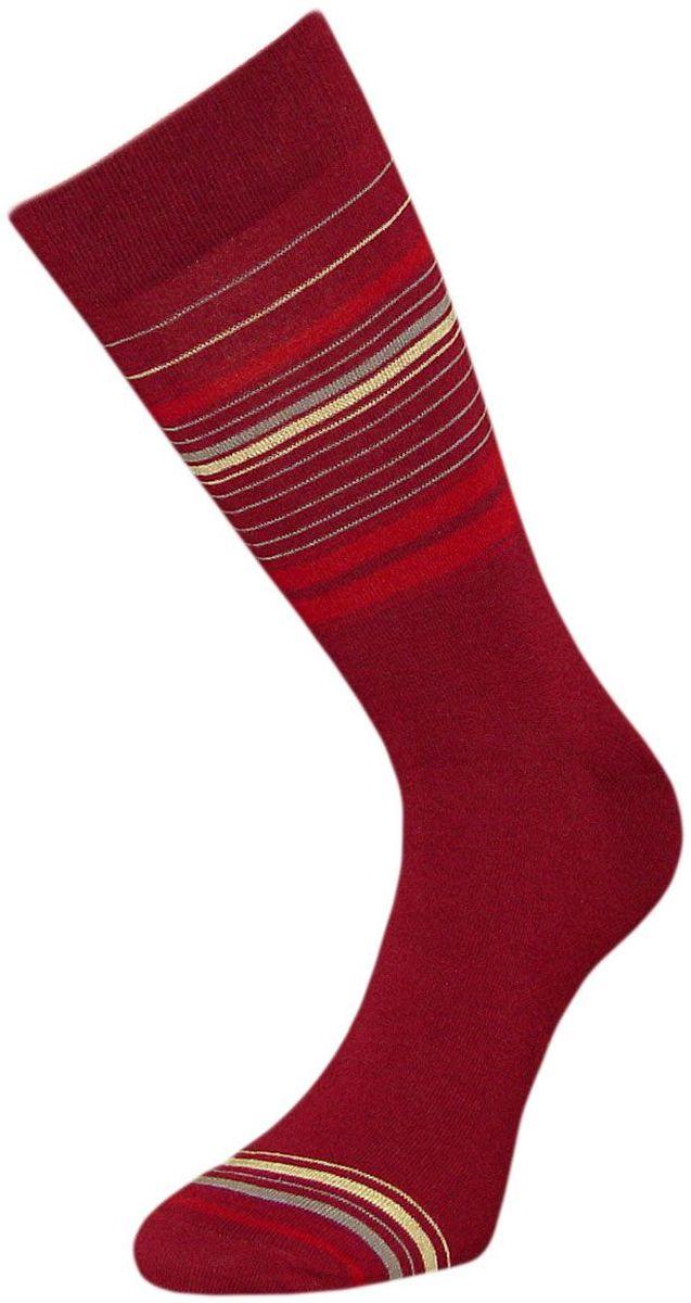 Носки мужские Гранд, цвет: бордовый, 2 пары. ZCL130. Размер 29/31ZCL130Мужские носки Гранд премиум класса выполнены из хлопка и оформлены текстурным рисунком продольные тонкие полоски по всему носку. Основа материала - высококачественный хлопок. Носки с бесшовной технологией зашивки мыска (кеттельный шов) хорошо держат форму и обладают повышенной воздухопроницаемостью, не линяют после многочисленных стирок, имеют усиленные пятку и мысок для повышенной износостойкости, и мягкую анатомическую резинку. Носки произведены по европейским стандартам на современных вязальных автоматах.