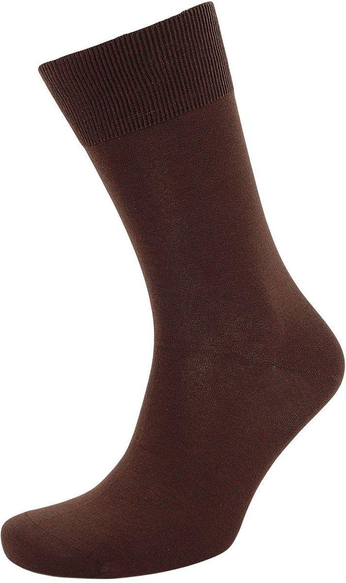 Носки мужские Гранд, цвет: темно-коричневый, 2 пары. ZCL0. Размер 25/27ZCL0Элитные мужские носки Гранд выполнены из хлопка Premium for Men. Носки произведены по европейским стандартам на современных вязальных автоматах. Основа материала - высококачественный хлопок. Носки хорошо держат форму и обладают повышенной воздухопроницаемостью, не линяют после многочисленных стирок, имеют оптимальную высоту паголенка, кеттельный шов и мягкую анатомическую резинку.