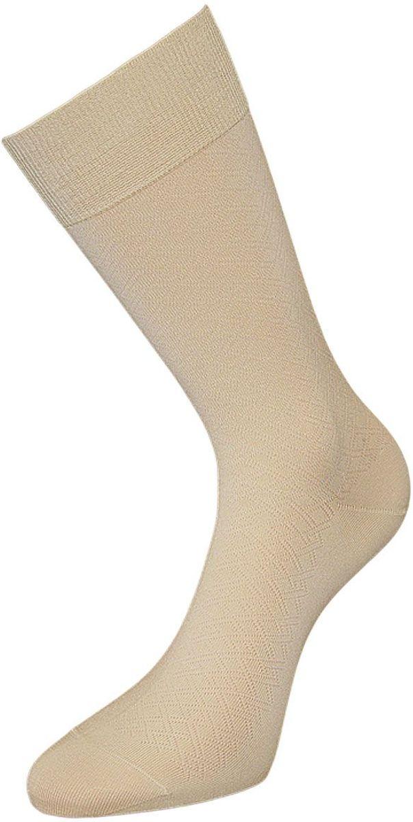 Носки мужские Гранд, цвет: кремовый, 2 пары. ZCmr70. Размер 25ZCmr70Мужские носки Гранд изготовлены из высококачественного мерсеризованного хлопка с добавлением полиамидных и эластановых волокон, они обладают антибактериальными и теплоизолирующими свойствами, хорошо впитывают влагу, не садятся и не деформируются. Изделие имеет легкий шелковый блеск. Мягкая анатомическая резинка идеально облегает ногу. Мысок и пятка усилены. В комплект входят две пары носков.