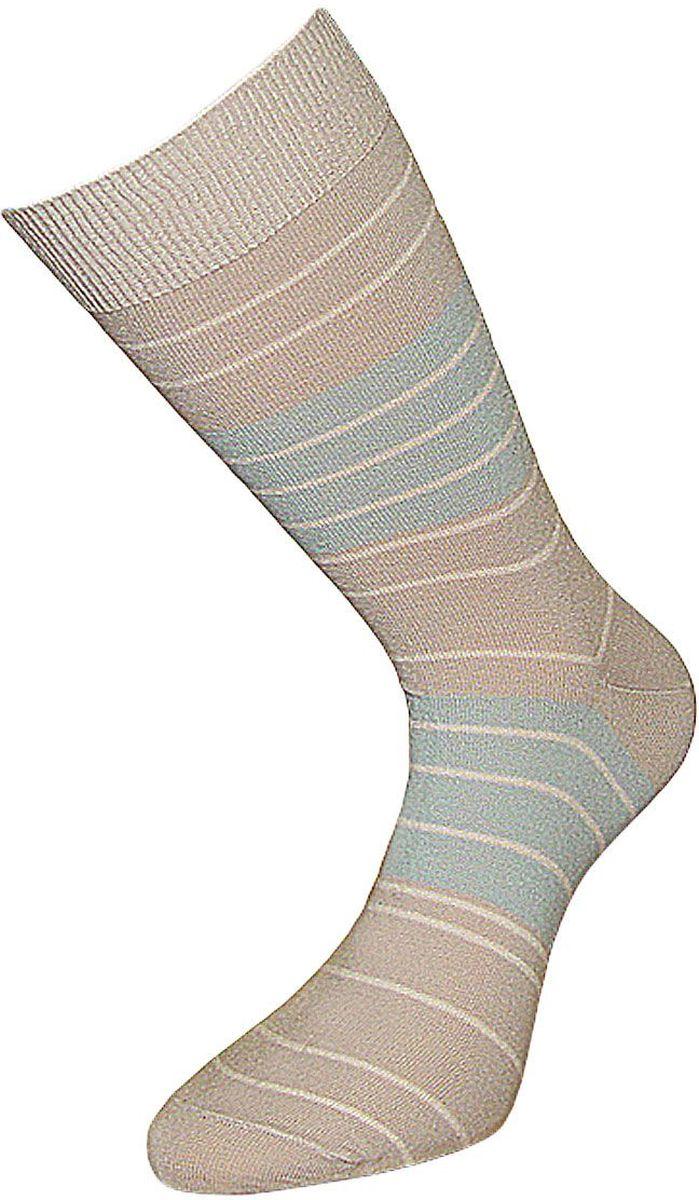 Носки мужские Гранд, цвет: светло-бежевый, 2 пары. ZC10. Размер 25ZC10Мужские носки Гранд изготовлены из высококачественного хлопка с добавлением полиамидных и эластановых волокон, они обладают антибактериальными и теплоизолирующими свойствами, хорошо впитывают влагу, не садятся и не деформируются.Модель оформлена принтом в полоску. Пятка и мысок усилены.В комплект входят две пары носков.