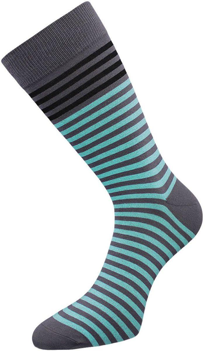 Носки мужские Гранд, цвет: серый, бирюзовый, 2 пары. ZCL85. Размер 25/27ZCL85Классические мужские носки Гранд выполнены из высококачественного хлопка, для повседневной носки. Носки имеют кеттельный шов (плоский), усиленные пятку и мысок, анатомическую резинку. Модель оформлена полосками. Носки долгое время сохраняют форму и цвет, а так же обладают антибактериальными и терморегулирующими свойствами.