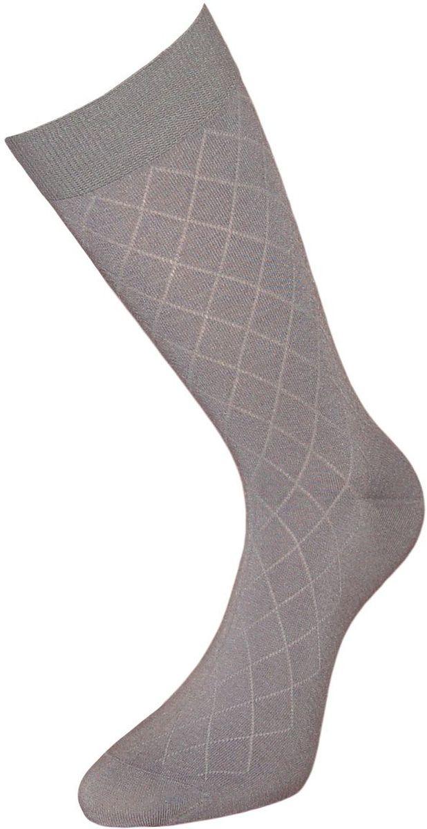 Носки мужские Гранд, цвет: серый, 2 пары. ZBL94. Размер 25/27ZBL94Однотонные мужские носки Гранд выполнены из бамбука. Носки с бесшовной технологией (кеттельный, плоский шов), оформленные рисунком мелкий ромб, имеют легкий шелковый блеск, мягкую анатомическую резинку, усиленные пятку и мысок, обладают антибактериальными и теплоизолирующими свойствами, хорошо впитывают влагу, не садятся, не деформируются и не линяют после стирок.