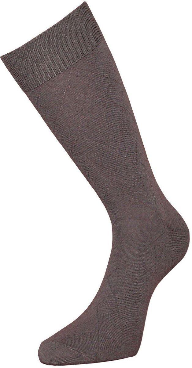 Носки мужские Гранд, цвет: серый, 2 пары. ZC92. Размер 29ZC92Мужские носки Гранд изготовлены из высококачественного хлопка с добавлением полиамидных и эластановых волокон, они обладают антибактериальными и теплоизолирующими свойствами, хорошо впитывают влагу, не садятся и не деформируются. Изделие имеет кеттельный (плоский шов) и дополнено рисунком в мелкие ромбы по всему носку. Мягкая анатомическая резинка идеально облегает ногу. Мысок и пятка усилены. В комплект входят две пары носков.