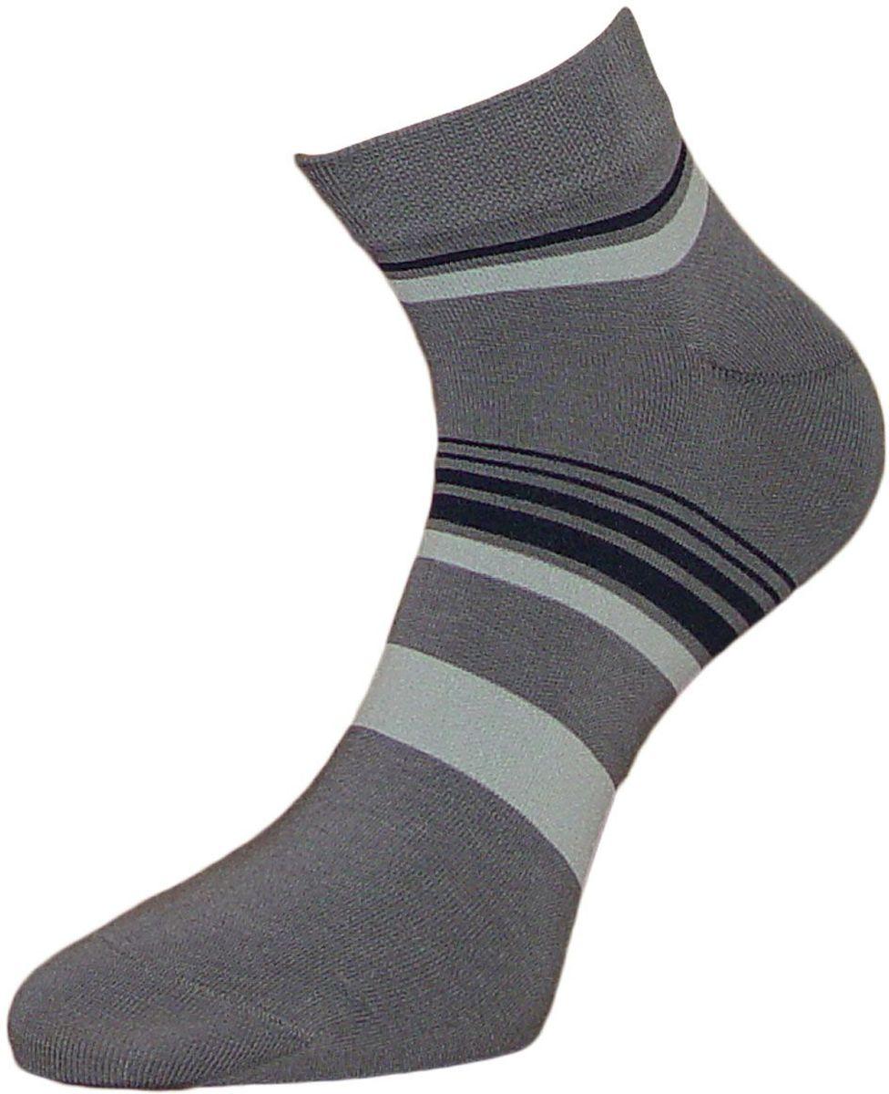 Носки мужские Гранд, цвет: серый, 2 пары. ZCL84. Размер 29/31ZCL84Укороченные полосатые мужские носки Гранд выполнены из хлопка. Основа материала - высококачественный хлопок. Носки хорошо держат форму и обладают повышенной воздухопроницаемостью, не линяют после многочисленных стирок, имеют кеттельный шов и мягкую анатомическую резинку. Носки произведены по европейским стандартам на современных вязальных автоматах.