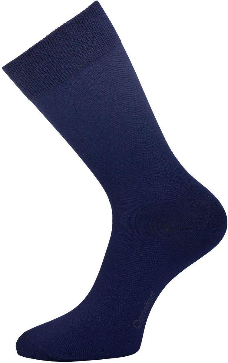 Носки мужские Гранд, цвет: темно-синий, 2 пары. ZC7. Размер 27ZC7Классические мужские носки Гранд выполнены из высококачественного хлопка, для повседневной носки. Модель оформлена на стопе надписью Comfort. Носки имеют кеттельный шов (плоский), усиленные пятку и мысок, анатомическую резинку. Носки долгое время сохраняют форму и цвет, а так же обладают антибактериальными и терморегулирующими свойствами.