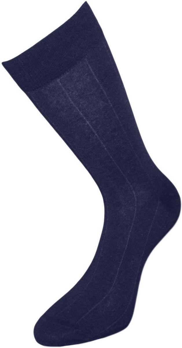 Носки мужские Гранд, цвет: темно-синий, 2 пары. ZCL128. Размер 29/31ZCL128Мужские носки из хлопка премиум класса:- основа материала – высококачественный хлопок;- текстурный рисунок по всему носку продольные тонкие полоски - бесшовная технология зашивки мыска (кеттельный шов);- хорошо держат форму и обладают повышенной воздухопроницаемостью;- не линяют после многочисленных стирок;- усиленные пятка и мысок для повышенной износостойкости;- мягкая анатомическая резинка.Носки произведены по европейским стандартам на современных вязальных автоматах.