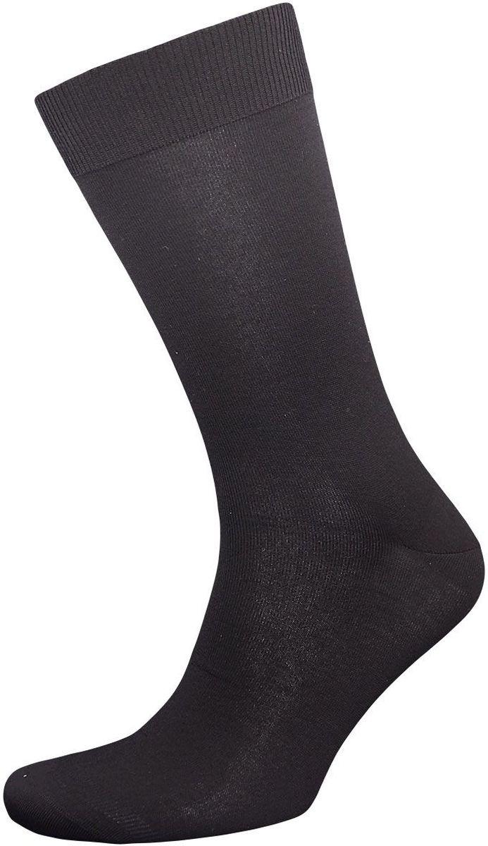 Носки мужские Гранд, цвет: черный, 2 пары. ZB102. Размер 25ZB102Элитные однотонные мужские носки Гранд выполнены из бамбука. Носки имеют легкий шелковый блеск, дышащий эффект на мыске и стопе. Носки с бесшовной технологией (кеттельный, плоский шов) обладают антибактериальными и теплоизолирующими свойствами, хорошо впитывают влагу, не садятся, не деформируются и не линяют после стирок, имеют мягкую анатомическую резинку, усиленные пятку и мысок.