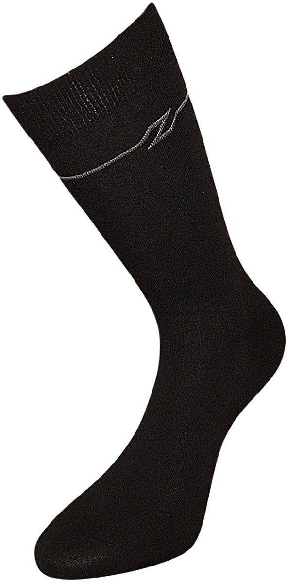 Носки мужские Гранд, цвет: черный, 2 пары. ZC56. Размер 29ZC56Мужские носки Гранд выполнены из хлопка, для повседневной носки. Модель оформлена рисунком в полоску вокруг верхней части паголенка. Носки с бесшовной технологией зашивки мыска (кеттельный шов) имеют усиленные пятку и мысок, анатомическую резинку. Носки изготовлены по европейским стандартам из самой лучшей гребенной пряжи.