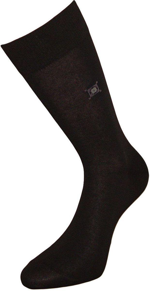 Носки мужские Гранд, цвет: черный, 2 пары. ZC99. Размер 25ZC99Классические мужские носки Гранд выполнены из высококачественного хлопка для, повседневной носки. Модель оформлена рисунком мелкие ромбы по всему носку. Носки имеют кеттельный шов (плоский), усиленные пятку и мысок, и анатомическую резинку. Носки долгое время сохраняют форму и цвет, а так же обладают антибактериальными и терморегулирующими свойствами.