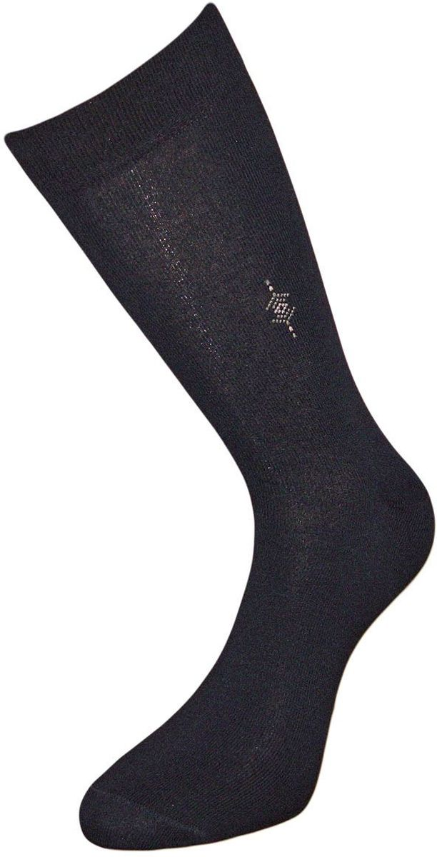 Носки мужские Гранд, цвет: черный, 2 пары. ZCL112. Размер 27/29ZCL112Мужские носки Гранд выполнены из хлопка и оформлены мелким рисунком на паголенке, для повседневной носки. Носки с бесшовной технологией зашивки мыска (кеттельный шов) хорошо держат форму и обладают повышенной воздухопроницаемостью, после стирки не меняют цвет, имеют безупречный внешний вид, усиленные пятку и мысок для повышенной износостойкости, благодаря свойствам эластана, не теряют первоначальный вид. Носки произведены по европейским стандартам на современных вязальных автоматах.