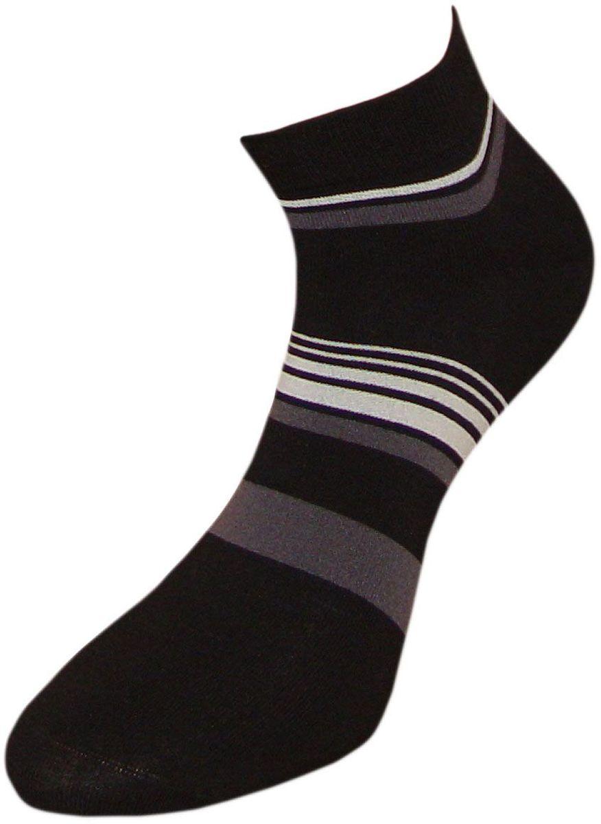 Носки мужские Гранд, цвет: черный, 2 пары. ZCL84. Размер 25/27ZCL84Укороченные полосатые мужские носки Гранд выполнены из хлопка. Основа материала - высококачественный хлопок. Носки хорошо держат форму и обладают повышенной воздухопроницаемостью, не линяют после многочисленных стирок, имеют кеттельный шов и мягкую анатомическую резинку. Носки произведены по европейским стандартам на современных вязальных автоматах.