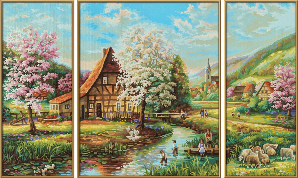 Schipper Картина по номерам Триптих Страна Идиллия