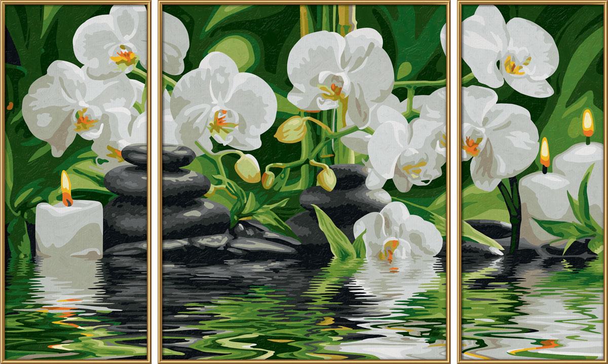 Schipper Картина по номерам Триптих Цветы Wellness-Oase