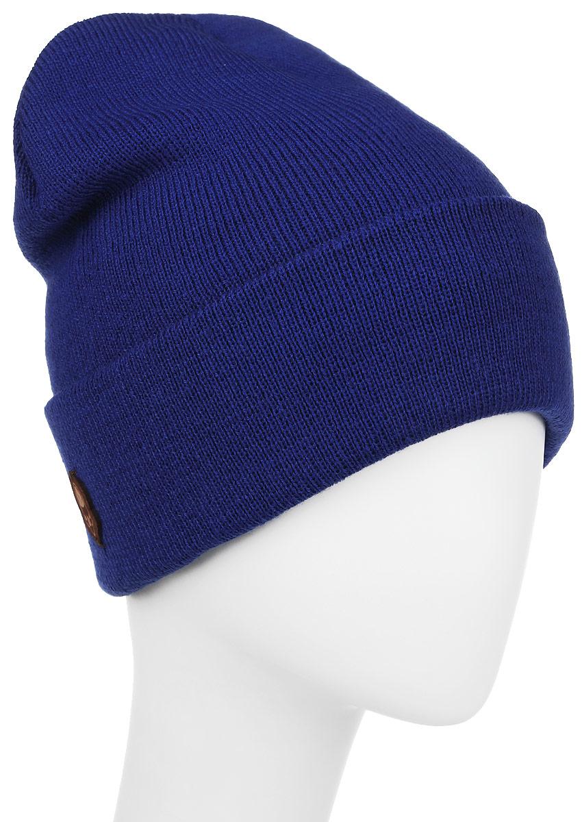 Шапка Ignite, цвет: синий. 016 CUFF. Размер 54/56016 CUFFТеплая шапка Ignite выполнена из высококачественного акрила. Шапка с отворотом оформлена в лаконичном однотонном стиле и дополнена оригинальными нашивками с логотипом бренда. Уважаемые клиенты!Размер, доступный для заказа, является обхватом головы.
