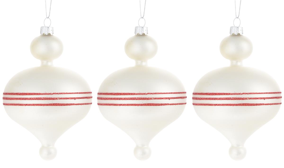 Украшение новогоднее подвесное Winter Wings Луковица с полосками, 3 штN07296Набор украшений Winter Wings Луковица с полосками прекрасно подойдет для праздничного декора новогодней ели. Изделия выполнены из высококачественного стекла. Набор состоит из трех фигурок в виде луковиц. Для удобного размещения на елке на украшениях предусмотрены ушки и веревочки.Елочная игрушка - символ Нового года. Она несет в себе волшебство и красоту праздника. Создайте в своем доме атмосферу веселья и радости, украшая новогоднюю елку нарядными игрушками, которые будут из года в год накапливать теплоту воспоминаний. Откройте для себя удивительный мир сказок и грез. Почувствуйте волшебные минуты ожидания праздника, создайте новогоднее настроение вашим дорогим и близким.Количество украшений: 3 шт.Размер украшения: 12 х 7,5 см.
