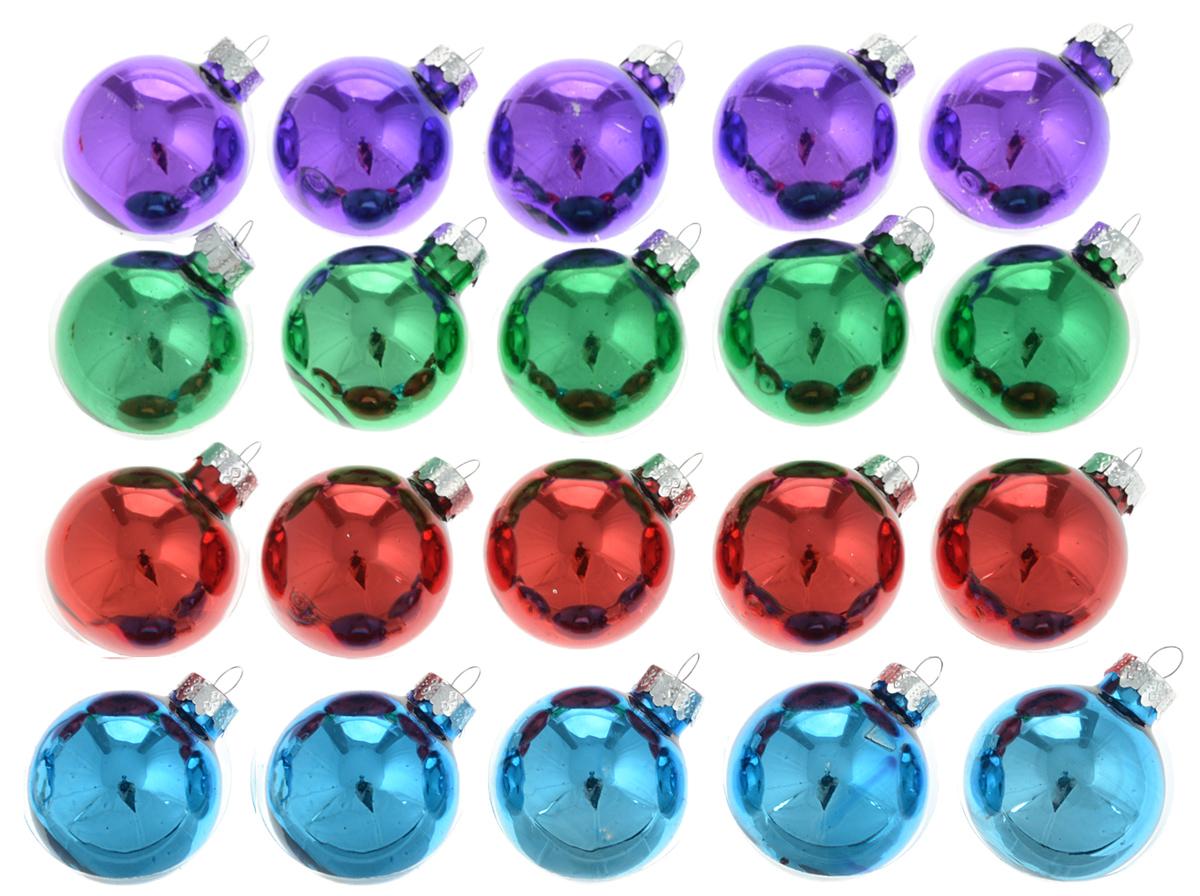 Украшение новогоднее подвесное Winter Wings Разноцветные шары, диаметр 4 см, 20 штN07452Новогоднее подвесное украшение Winter Wings Разноцветные шары прекрасно подойдет для праздничного декора новогодней ели. Изделия выполнены из высококачественного стекла. Для удобного размещения на елке на украшениях предусмотрены ушки.Елочная игрушка - символ Нового года. Она несет в себе волшебство и красоту праздника. Создайте в своем доме атмосферу веселья и радости, украшая новогоднюю елку нарядными игрушками, которые будут из года в год накапливать теплоту воспоминаний. Откройте для себя удивительный мир сказок и грез. Почувствуйте волшебные минуты ожидания праздника, создайте новогоднее настроение вашим дорогим и близким.Цвета шаров: фиолетовый, зеленый, красный, синий.