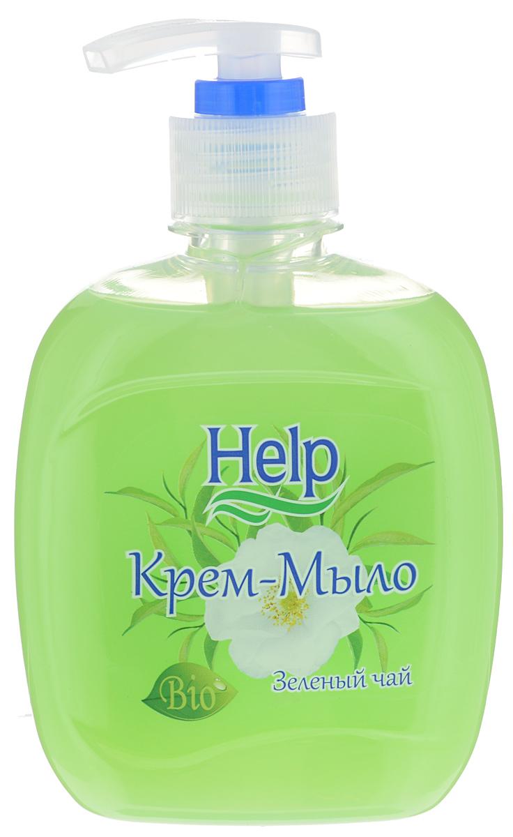 Жидкое мыло Help Зеленый чай, с дозатором, 300 г4605845001463Мыло Help Зеленый чай мягко очищает, увлажняет, придает мягкость коже рук. Специальные компоненты дополнительно питают кожу рук во время мытья. Мыло обладает гипоаллергенной парфюмерной композицией с ярким ароматом и пышной пеной.Товар сертифицирован.