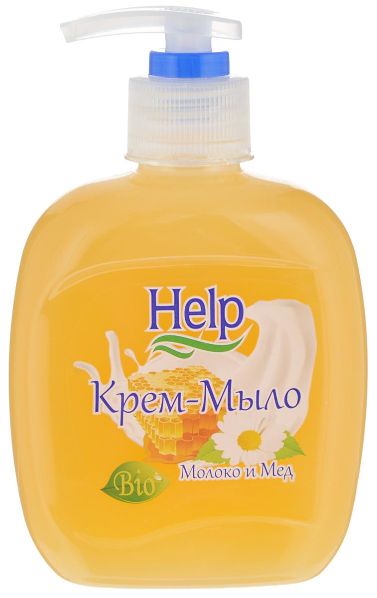 Жидкое мыло Help Молоко и мед, с дозатором, 300 г4605845001494Мыло Help Молоко и мед мягко очищает, увлажняет, придает мягкость коже рук. Специальные компоненты дополнительно питают кожу рук во время мытья. Мыло обладает гипоаллергенной парфюмерной композицией с ярким ароматом и пышной пеной.Товар сертифицирован.