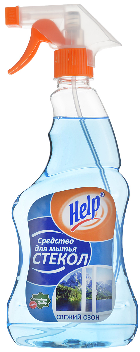 Средство для мытья стекол Help Свежий озон, 500 мл средство для мытья стекол help лимон 500 мл
