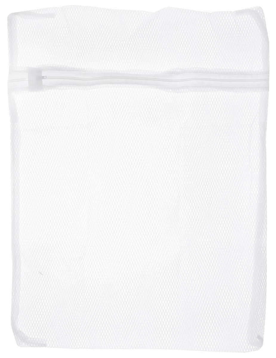 Мешок для стирки белья Home Queen, цвет: белый, 40 х 50 см50352Мешок Home Queen на молнии для стирки белья изготовлен из полиэстера. Применяется для стирки белья в стиральной машине. При использовании мешка качество стирки сохраняется. Оптимальный результат стирки достигается при заполнении мешка не более чем на 3/4. Помещенное в мешок белье меньше изнашивается и не рвется, лучше сохраняет свою оригинальную форму. Изделие особенно рекомендовано для стирки мелкого белья и изделий из деликатных тканей.Мешок Home Queen идеален для предотвращения попадания мелких предметов (пуговиц, ниток, кнопок) в механизм стиральной машины.Размер: 40 х 50 см.