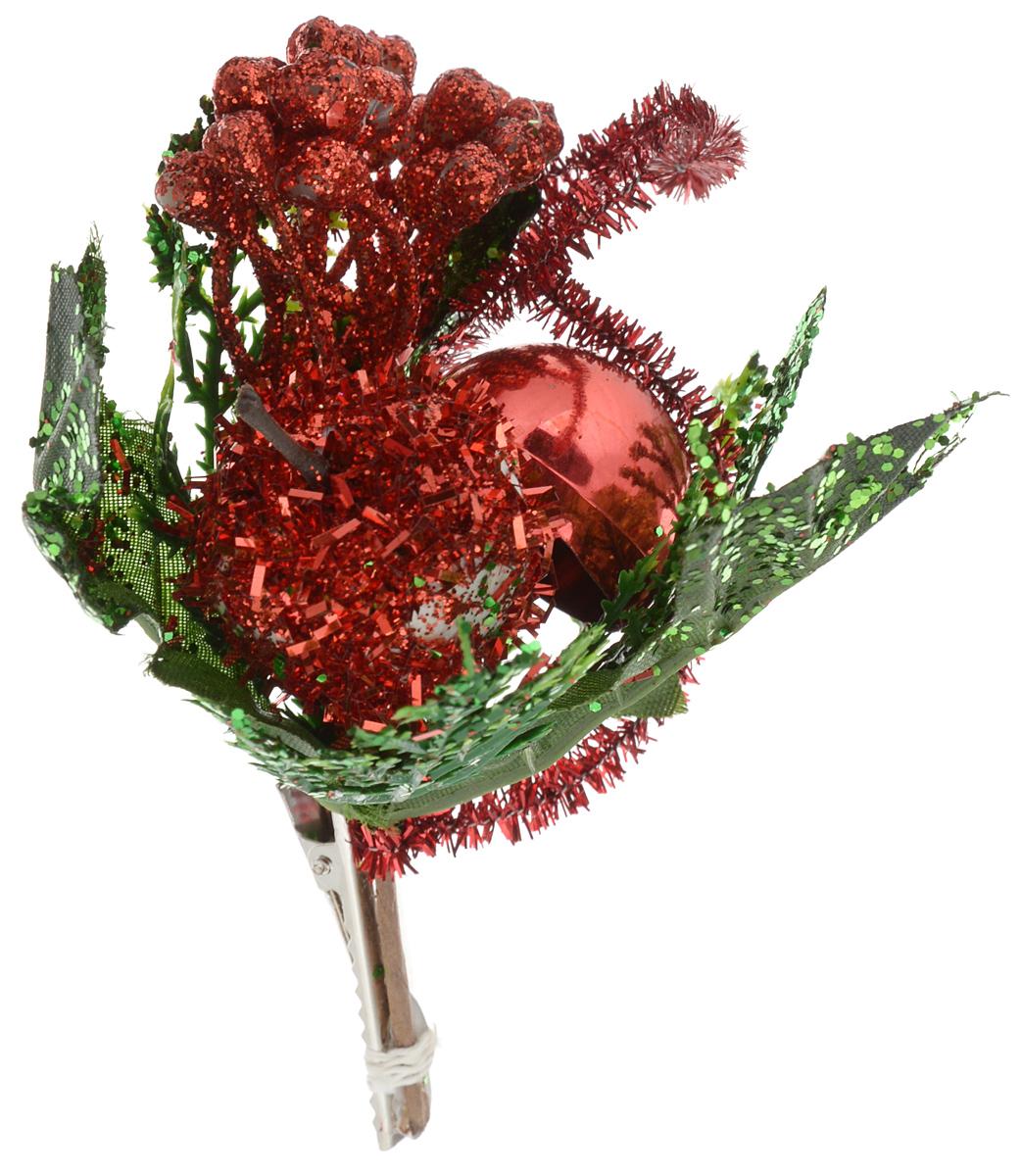 Украшение новогоднее Феникс-Презент Яблоко красное с лепестками, на клипсе, 12 x 9 см42497Новогоднее украшение Феникс-Презент Яблоко красное с лепестками выполнено из поливинилхлорида в форме веточки с яблоком. Изделие крепится с помощью клипсы. Украшение можно прикрепить в любом понравившемся вам месте. Но, конечно, удачнее всего оно будет смотреться на праздничной елке.Елочная игрушка - символ Нового года. Она несет в себе волшебство и красоту праздника. Создайте в своем доме атмосферу веселья и радости, украшаяновогоднюю елку нарядными игрушками, которые будут из года в год накапливать теплоту воспоминаний.Материал: поливинилхлорид. Размеры: 12 х 9 см.