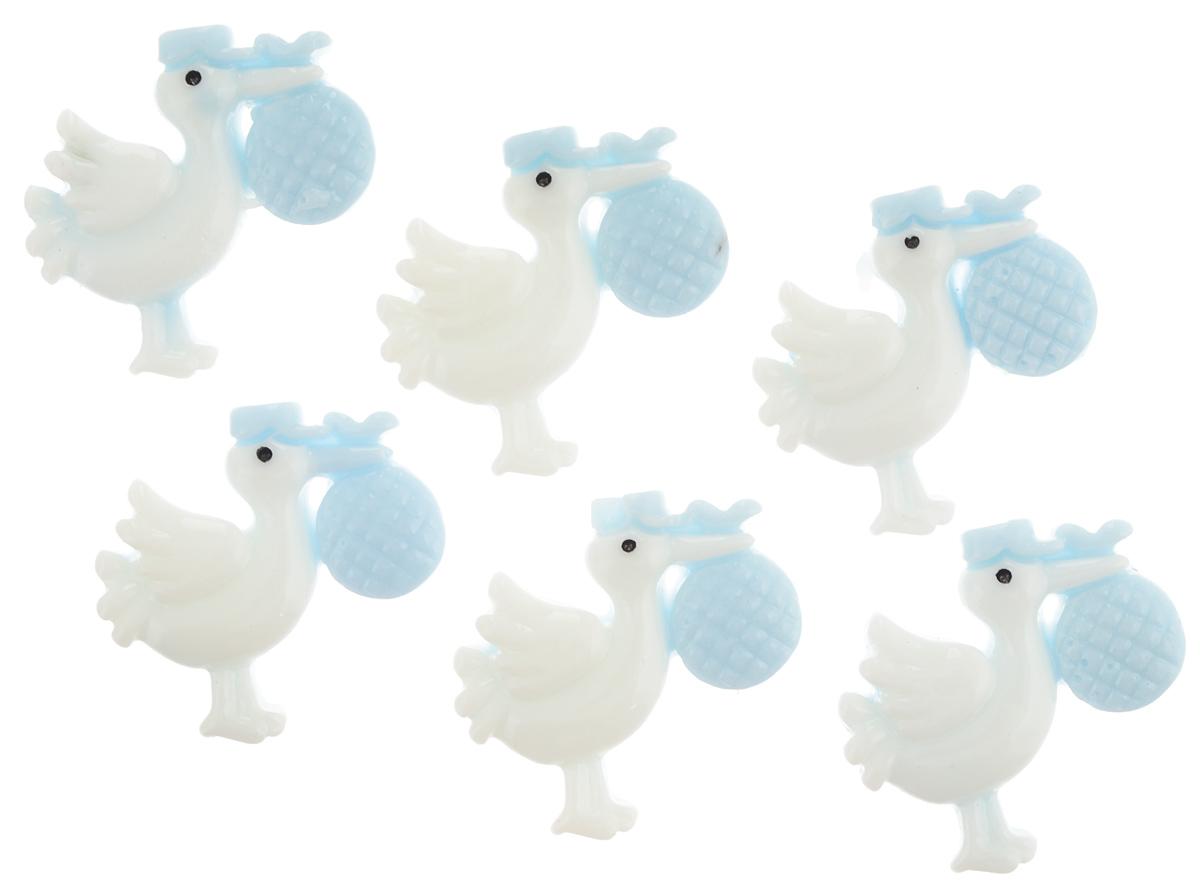 Декоративный элемент Lan Jing Ling Аист, цвет: голубой, 6 шт580796_ голубойНабор Lan Jing Ling Аист состоит из 6 декоративных элементов, изготовленных из пластика в виде аиста с мешочком. С их помощью вы сможете украсить альбом, подарок и другие предметы ручной работы.Декоративные элементы в наборе имеют оригинальный и яркий дизайн.Размер элемента: 3 х 3 см.