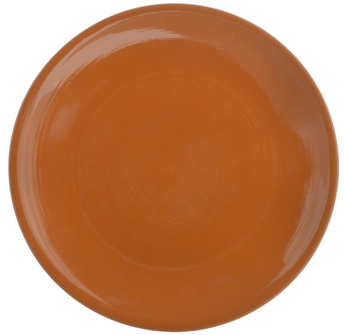 Тарелка Борисовская керамика Cтандарт, цвет: коричневый, диаметр 23 смОБЧ00000586_коричневыйТарелка плоская Cтандарт выполнена из высококачественной керамики. Внутренняя часть тарелки оформлена ярким рисунком с изображением цветка.Тарелка Борисовская керамика Cтандарт идеально подойдет для сервировки стола и станет отличным подарком к любому празднику. Изделие может использоваться как подставка под любую другую посуду.Можно использовать в духовке и микроволновой печи.Диаметр (по верхнему краю): 23 см.