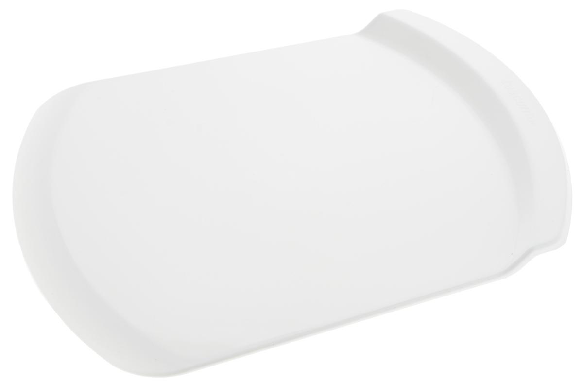 Поднос для переноски торта Tescoma Delicia, 31 х 23 х 2 см630130Поднос Tescoma Delicia отлично подходит для легкого собирания и целых тортов, отдельных ярусов, десертов и других изделий. Изготовлен он из прочного пластика.Можно мыть в посудомоечной машине.