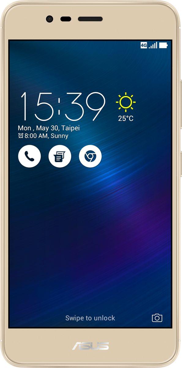 ASUS ZenFone 3 Max ZC520TL, Gold (90AX0085-M00300)90AX0085-M00300Вы живете активной жизнью, а ваш смартфон к середине дня уже разряжен? Тогда вам нужен новый ZenFone 3 Max. Аккумулятор емкостью 4130 мАч позволит пользоваться этим смартфоном с раннего утра до поздней ночи. Работайте продуктивнее, и развлекайтесь ярче - ZenFone 3 Max поможет вам жить еще активнее!С новым 5,2-дюймовым ZenFone 3 Max вам больше не придется беспокоиться о том, что у вас сядет смартфон в самый неподходящий момент. Благодаря большой емкости аккумулятора (4100 мАч), ZenFone 3 Max может работать до 30 дней в режиме ожидания. Чем больше емкость аккумулятора, тем больше пользы от смартфона, ведь каждый хочет получить максимум от своего мобильного устройства, не прибегая к подзарядке: пролистать больше веб-сайтов, просмотреть больше видеороликов и пообщаться с большим числом друзей, чем при использовании обычных смартфонов.Емкости аккумулятора в современном смартфоне никогда не бывает много. Именно поэтому инженеры компании ASUS разработали две специальные энергосберегающие технологии, позволяющие продлить время автономной работы ZenFone 3 Max. Даже если уровень заряда аккумулятора упадет до 10%, вы сможете увеличить время работы смартфона в режиме ожидания на дополнительные 36 часов, просто активировав функцию суперэкономии.ZenFone 3 Max сочетает в себе все самое лучшее: дисплей, покрытый защитным стеклом с закругленными краями, эргономичный корпус с изогнутой задней панелью, стильные цвета. Это шедевр современного дизайна и инновационных технологий, который не захочется выпускать из рук.ZenFone 3 Max оснащается превосходным 5,2-дюймовым IPS-дисплеем с яркостью 400 кд/м2 и широкими углами обзора. Причем благодаря тонкой рамке (2,25 мм) и большой относительной площади (75% от размера передней панели) экран ничуть не влияет на компактность смартфона.Расположенный на задней панели сканер отпечатка пальца служит не только для моментальной разблокировки смартфона, но и поддерживает несколько других 