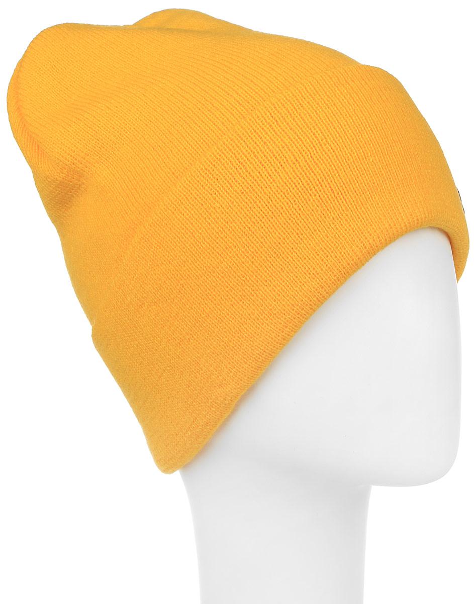 Шапка Ignite, цвет: желтый. 016 CUFF. Размер 54/56016 CUFFТеплая шапка Ignite выполнена из высококачественного акрила. Шапка с отворотом оформлена в лаконичном однотонном стиле и дополнена оригинальными нашивками с логотипом бренда. Уважаемые клиенты!Размер, доступный для заказа, является обхватом головы.