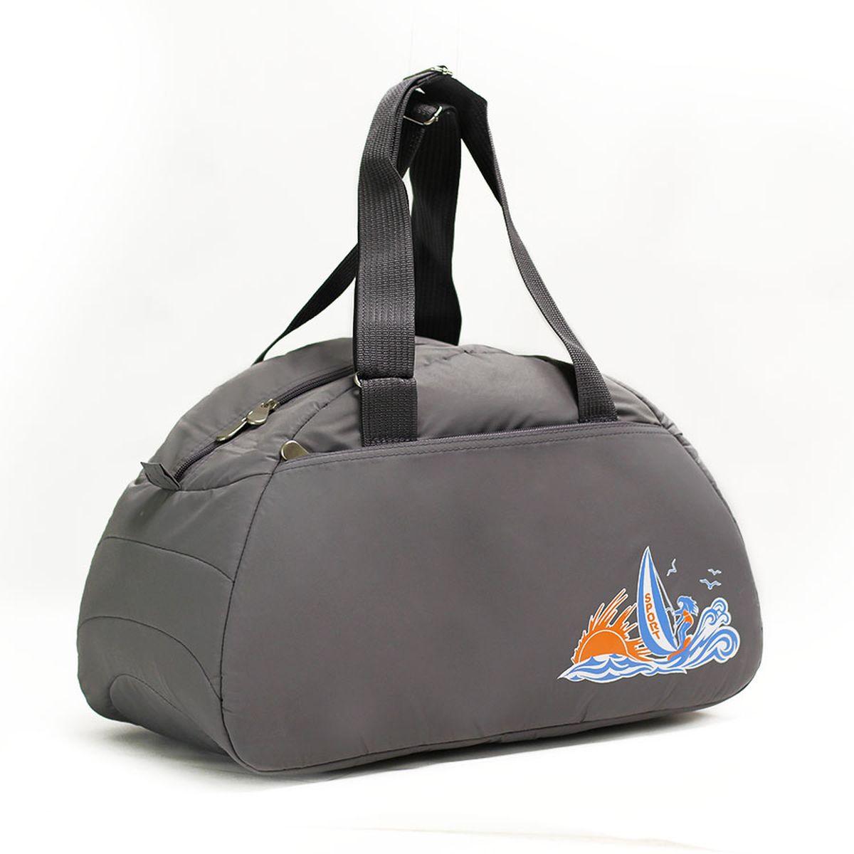 Сумка спортивная Polar, цвет: серый, 28 л. 60206020_серыйСпортивная сумка Polar выполнена из полиэстера. Сумка имеет одно большое отделение, внутри которого расположен один карман на молнии. Снаружи один большой карман на молнии. Длина ручек регулируется по необходимой длине, что позволяет носить сумку как в руках, так и на плече. Максимальная высота ручек - 35 см. Съемного плечевого ремня нет.
