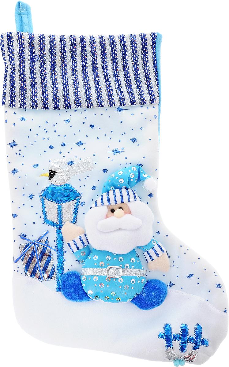 Мешок для подарков Winter Wings Носок, 53 х 29 смN02281Новогодний мешочек Winter Wings «Носок» сделан из полиэстера и декорирован аппликацией. Этот праздничный аксессуар предназначен специально для новогодних и рождественских подарков. С помощью петельки его можно подвесить в любом удобном месте.Традиция класть подарки в новогодние чулки (в Европе эти же чулки называются рождественскими) появилась в нашей стране относительно недавно, но уже пользуется популярностью. Чулки, как и другие новогодние украшения, создают в доме атмосферу тепла и уюта, сближая всю семью. Особенно эта традиция нравится детям. Да и взрослому будет не менее интересно получить подарок в таком оригинальном оформлении.Размер изделия: 53 x 29 см.