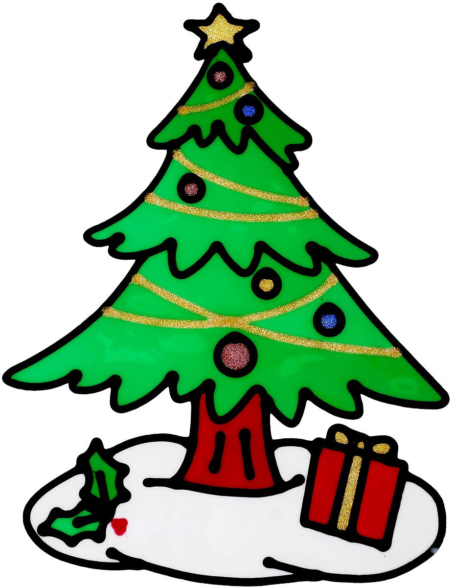 Украшение новогоднее оконное Winter Wings Елка, 18 х 24 смN09240Новогоднее оконное украшение Winter Wings Елка поможет украсить дом к предстоящим праздникам. Наклейка изготовлена из геля.С помощью этих украшений вы сможете оживить интерьер по своему вкусу, наклеить их на окно, на зеркало или на дверь.Новогодние украшения всегда несут в себе волшебство и красоту праздника. Создайте в своем доме атмосферу тепла, веселья и радости, украшая его всей семьей. Размер наклейки: 18 х 24 см.